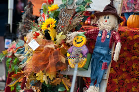 Colorful Fall decorations found at Oktoberfest