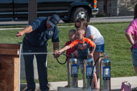 Water fun for kids with the Jefferson City Fire Department at Oktoberfest