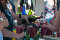 Wine tasting was provided by area wineries at Oktoberfest 2015.